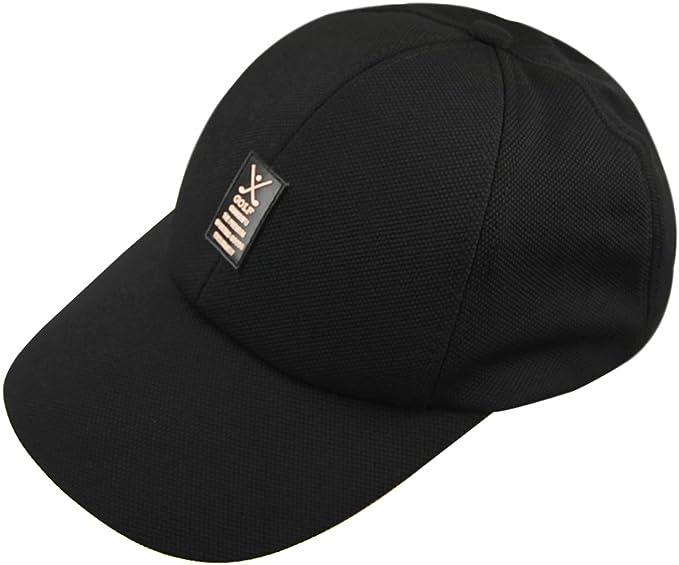 Men Flat Cotton Baseball Cap Adjustable Casual Sports Fisher Cadet Plain Sun Hat