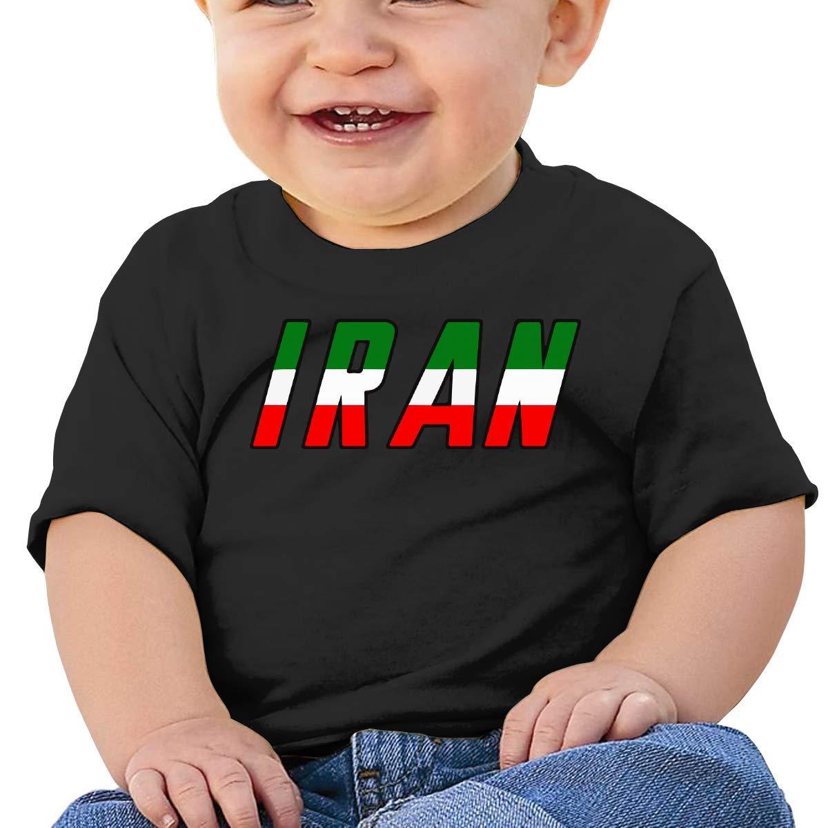 STARKLY Iran Word Flag Baby Boy Newborn Short Sleeve T-Shirt 6-24 Month 5 Tops