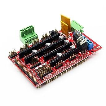 DollaTek Controlador de impresora 3D RAMPS 1.4 Mega Shield para ...