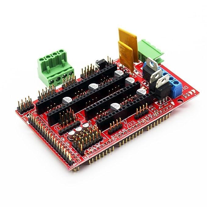 ARCELI Controlador de Impresora RAMPS 1.4 Mega Shield 3D para Arduino Reprap Prusa Mendel: Amazon.es: Electrónica