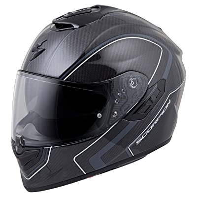 Scorpion ST1400 Carbon Helmet - Antrim (Small) (Dark Grey): Automotive