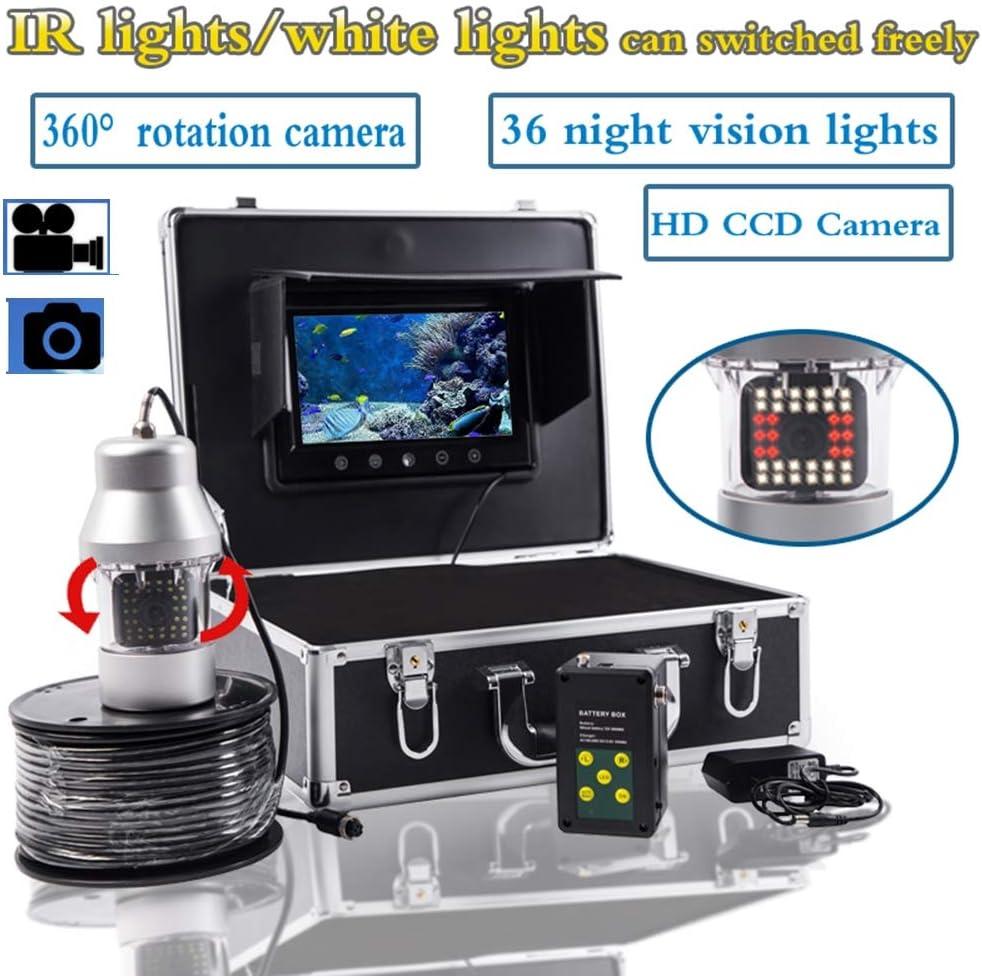 7インチ水中魚群探知機360度HD水中カメラTFTカラーディスプレイCCDおよびHD、DVRビデオ(20M、50M、100M、200M),20M  20M