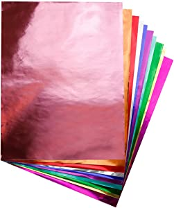 """Hygloss Products Metallic Foil Paper Sheets for Arts & Crafts, Classroom Activities & Artists-10"""" x 13"""", Assorted Colors"""