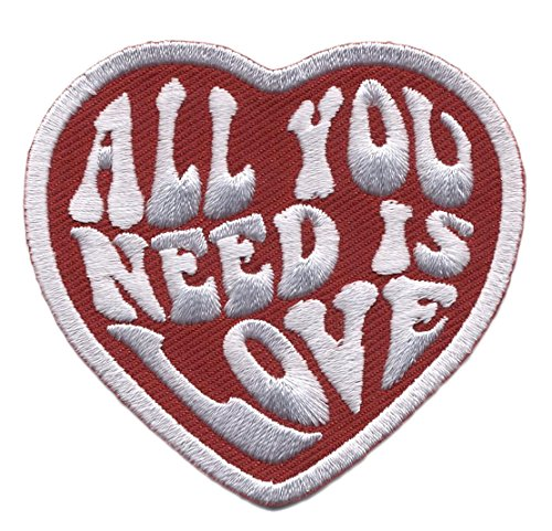 All You Need is Love Heart Punk Rockabilly Tattoo Bag Jeans Jacket Patch By Titan One