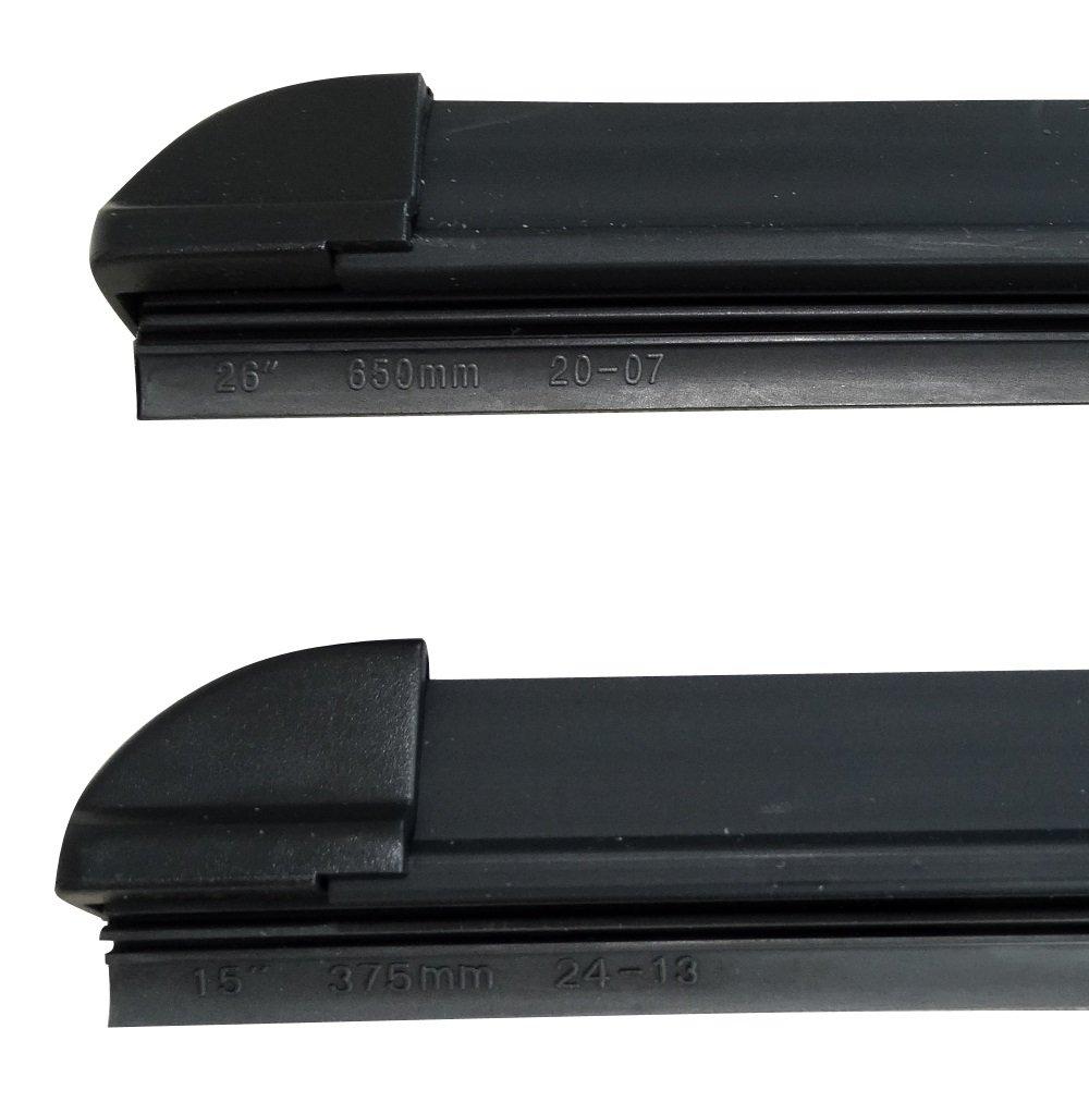 Hanging. Type Scrapers AERZETIX Set of 2/Flat Front Wiper Blades