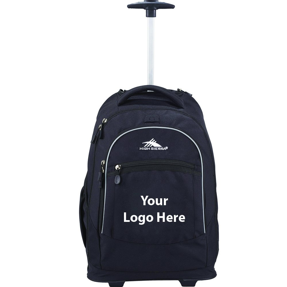 High Sierra Chaser Wheeled 17'' Computer Backpack - 12 Quantity - $83.95 Each - PROMOTIONAL PRODUCT / BULK / BRANDED with YOUR LOGO / CUSTOMIZED