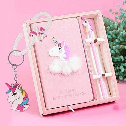 Juego de bolígrafos de gel para cuaderno – lindo unicornio diario papelería Set regalo de cumpleaños para niñas juguetes de escritura de todas las ...