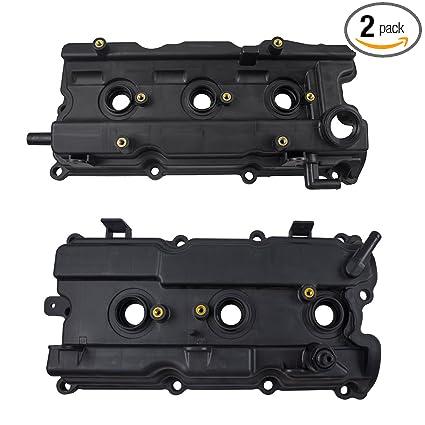 2356da86cbe Amazon.com  Pair Set Front Engine Valve Covers w Gaskets Replacement for  Infiniti I35 Nissan Altima Maxima Murano Quest 13270-8J112 13264-7Y000   Automotive