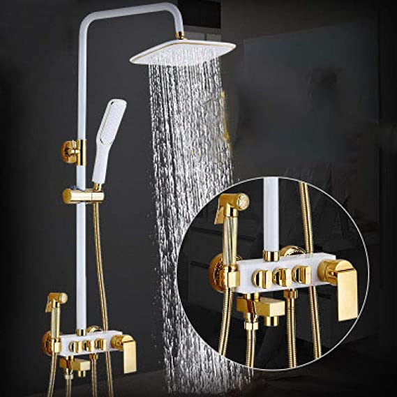 ZH Shower Set extensible sets baño mampara cobre boquilla manual ...