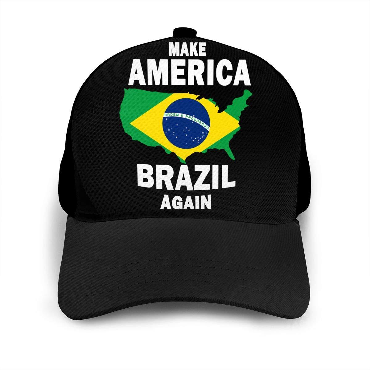 Y94OIW@MAO Make America Brazil Again Baseball Cap for Men and Women Cotton Mountaineering Cap