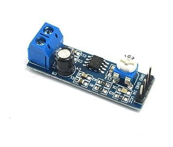 DollaTek Módulo de Amplificador de Audio LM386 200 Veces 5-12V 10K Resistencia Ajustable
