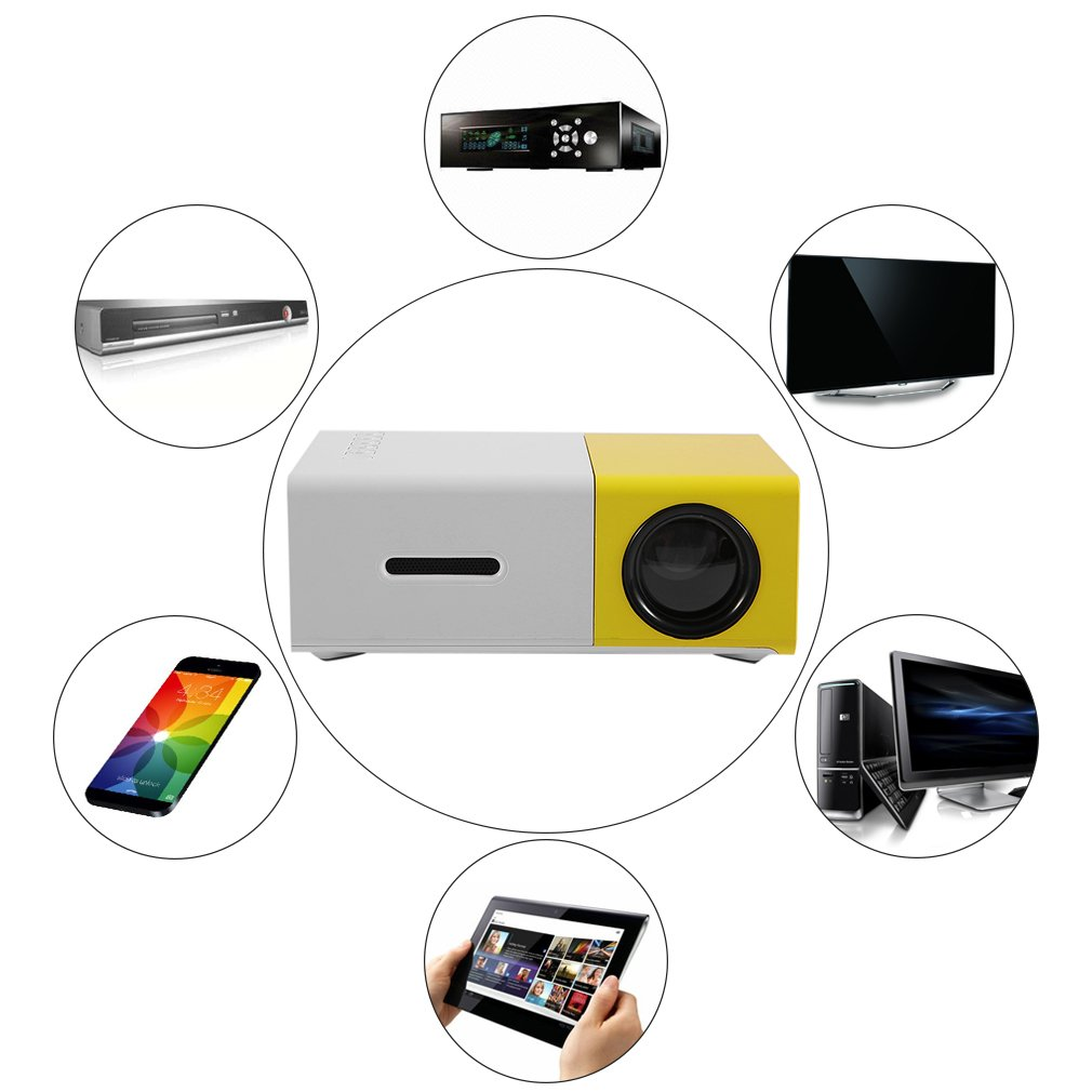 Qulable YG300 Professional Mini Projector Full HD1080P Home Theater LED Projector LCD
