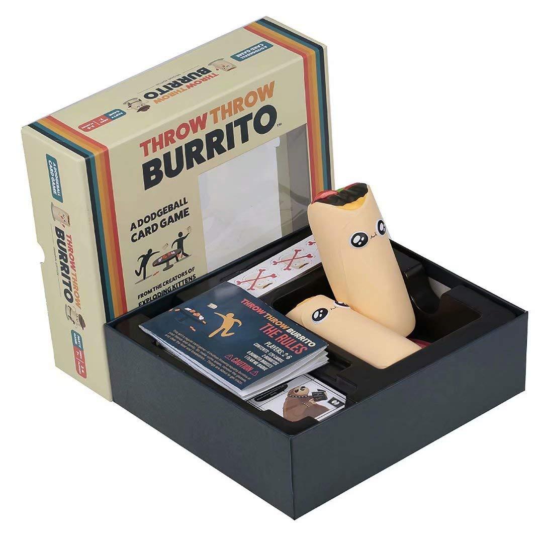 Giochi di carte per adulti Gioco interattivo di raccolta carte Dodge Giochi di societ/à per famiglie Throw Throw Burrito Game ragazzi e bambini Un regalo per Natale tra amici