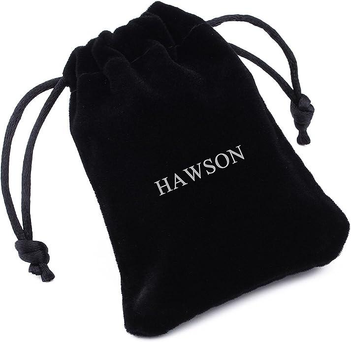 Hawson ensemble boutons de manchette et boutons de chemise pierre noire sur monture or pour smoking homme