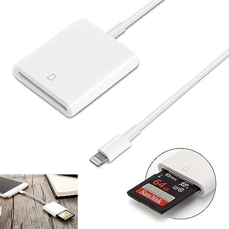 Lightning a tarjeta SD Cámara Reader adaptador Cámara Card ...