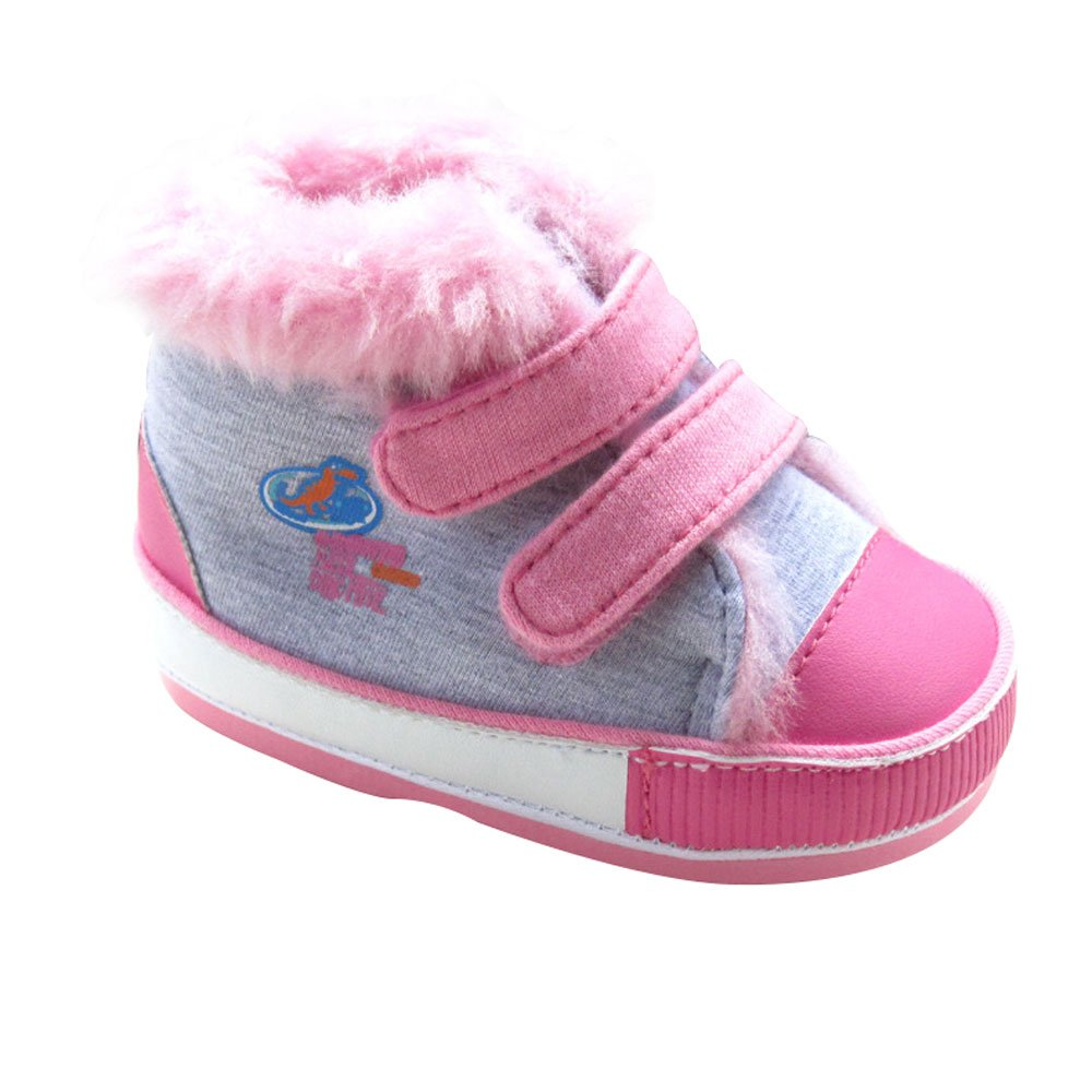 Kuner Baby Boys and Girls Plush Robber Sole Warm Snow Boots First Walkers Shoes