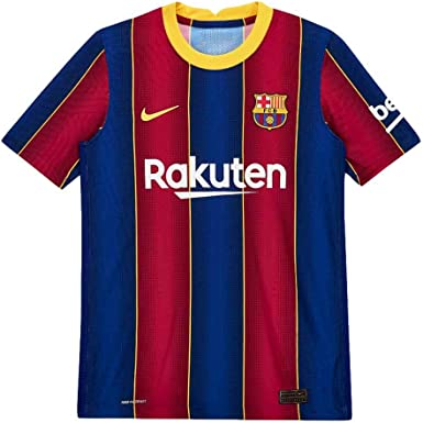 Amazon Com Nike 2020 2021 Barcelona Home Vapor Match Football Soccer T Shirt Jersey Kids Clothing