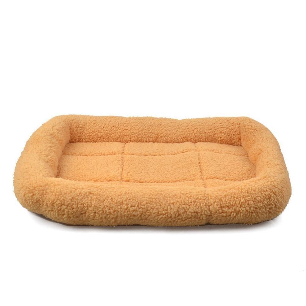 C 50x37cm C 50x37cm YunYilian Pet Bolster Dog Bed Comfort Warm pet Cotton mat Dog Blanket Lamb Fluff mat (color   C, Size   50x37cm)