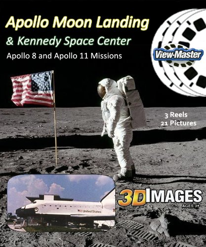 Apollo Moon Missions & Kennedy Space Center - Classic Viewmaster - 3 Reels - 21 3D Pictures by 3Dstereo ViewMaster