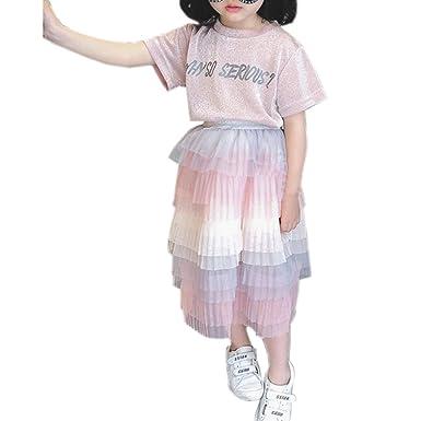 Elonglin Falda de Tul para niñas con tutú y Falda para niña ...