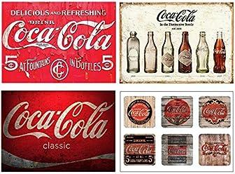 Set of 4 Placemats Coca Cola vintage