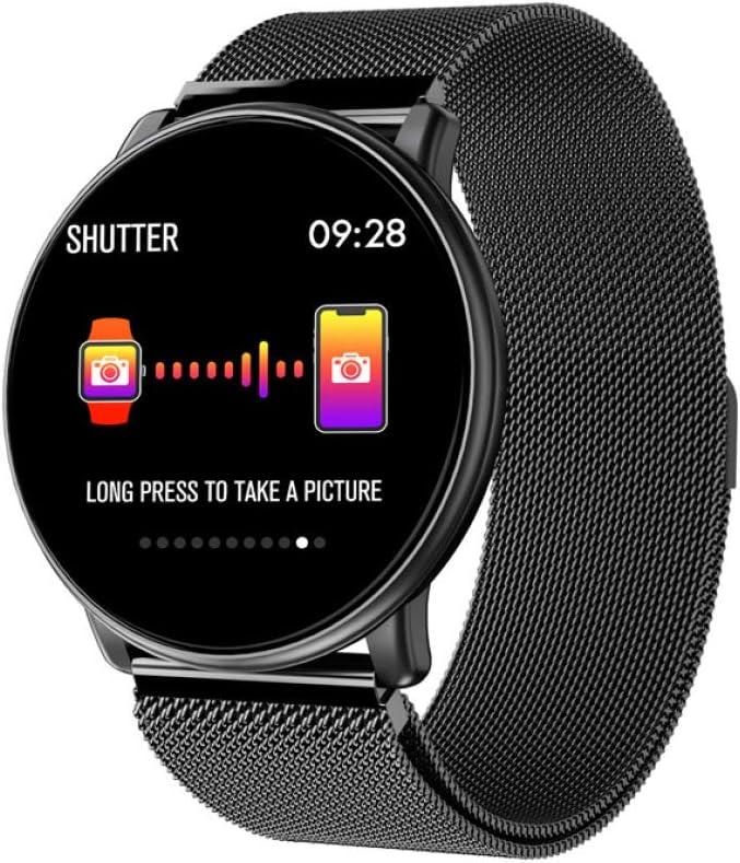 ZNSBH Smartwatch, 5ATM Impermeable Reloj Inteligente Hombre Mujer, Pulsera Actividad Inteligente Reloj Deportivo Reloj Fitness con Pantalla Táctil Completa para iOS Android