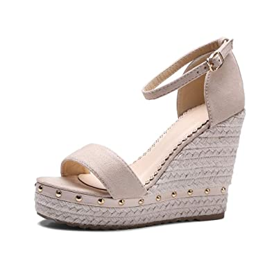 27c4453524711 Amazon.com | My Heat Women's Wedge Sandals Casual Hollow Out Sandals ...