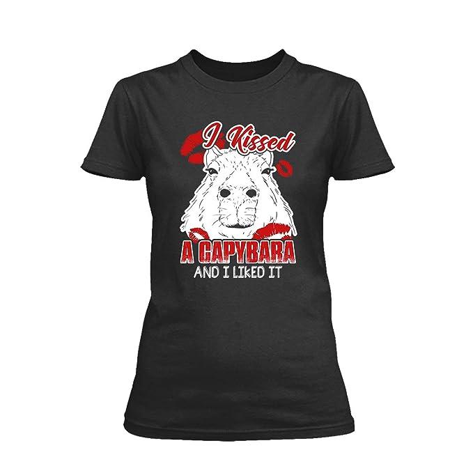Amazon.com: Cool I Kissed A Capybara Shirt Design, Women T ...