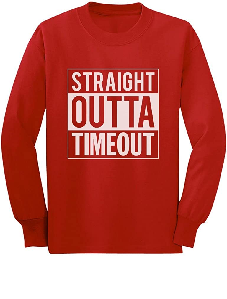 TeeStars - Straight Outta Timeout Funny Toddler/Kids Long sleeve T-Shirt GhPhllMgC5