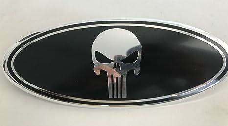 Exotic Store F Skb Black Punisher Modified Emblem For Ford Explorer Edge F