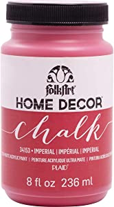 FolkArt Home Decor Chalk Furniture & Craft Paint in Assorted Colors, 8 ounce, Imperial