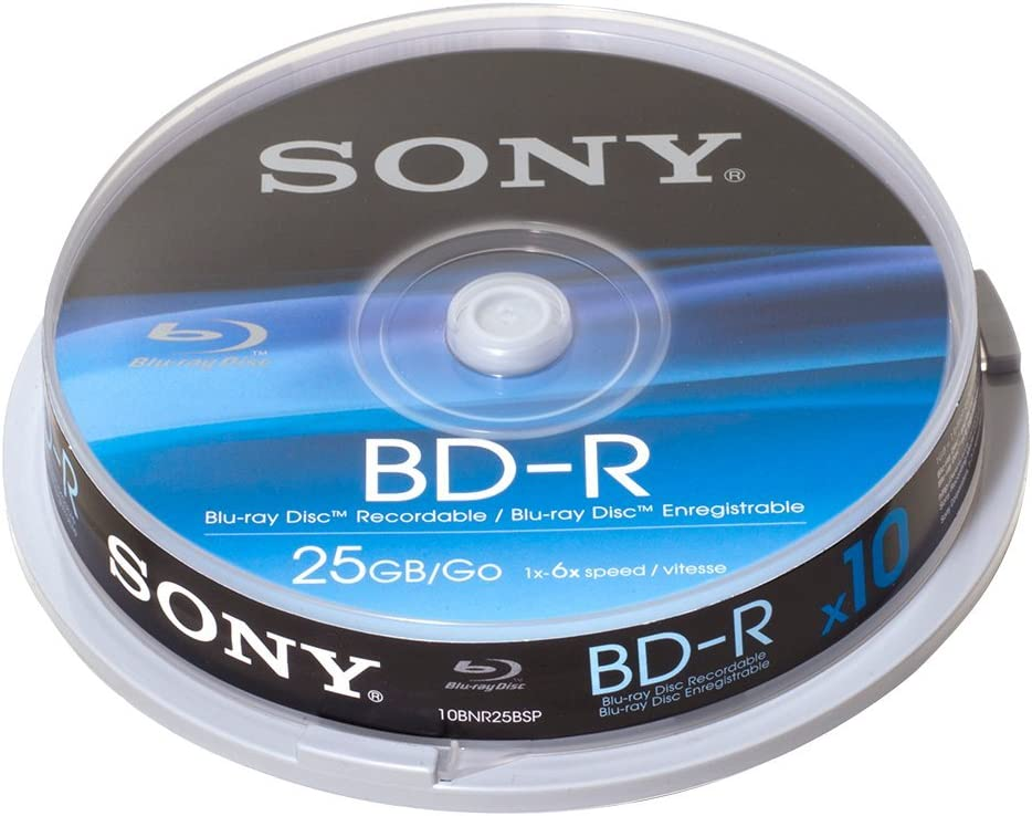 Sony Bd R 25gb 6x 10 Cake Box Computers Accessories