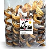 Downtown Pet Supply 7'' - 9'' CURLY BULLY STICKS, bull bully springs - Regular Select Thick - Dog Chew Treats (10 Pack)