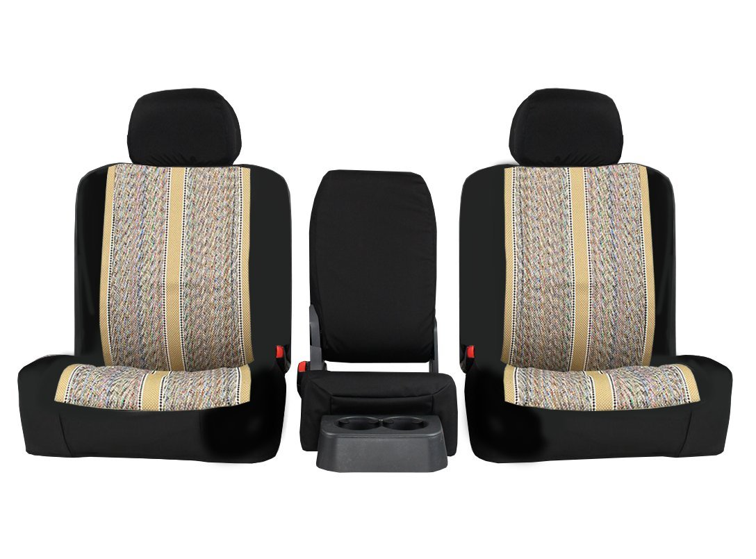 Front Seats 2001-2001 ShearComfort Custom Saddle Blanket Seat Covers for Ford F150 Regular Cab in Sport Black for 40/60 Bottom w/High Backrests w/Single Cup Console