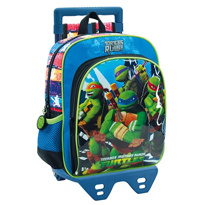 Tortugas Ninja Mochila Infantil, 6.44 Litros, Color Azul ...