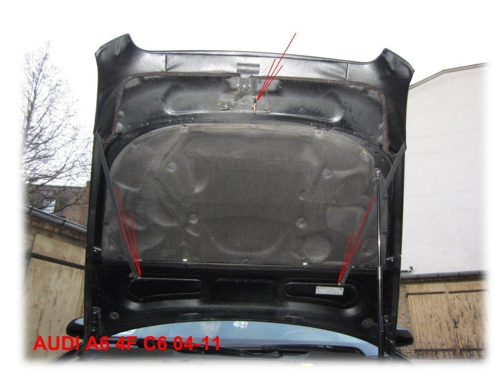 2004-2011 Haubenbra Steinschlagschutz Tuning Bonnet Bra AB-00034 BRA f/ür A6 C6 Bj