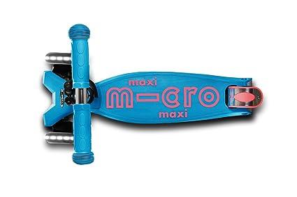 Micro MMD0078 Maxi Deluxe LED Aqua, Patinete 3 Ruedas ...