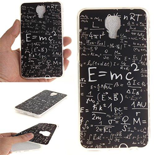 Hozor LG X Screen Cas, Motif Peint TPU Souple En Silicone Couverture Arrière Slim Fit Antichoc Scratch Résistant Cas De Téléphone De Protection Bord Transparent equation