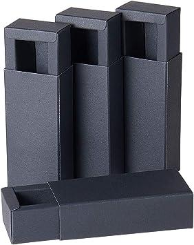 BENECREAT 24 Pack Caja de Cartón Kraft Cajas de Regalo para Fiesta Superior Envase de Joyería - Negro 9.5x4.3x2.7cm: Amazon.es: Juguetes y juegos
