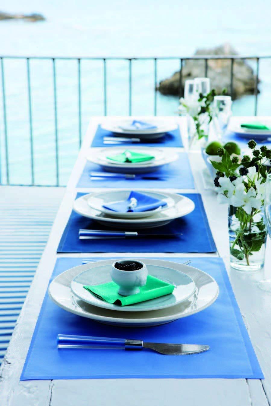 Aquamarine 7.9 x 7.9 in 25 units per roll Cotton Luncheon Napkin