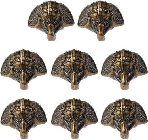 BAIRU - Caja de madera para patas de esquina, diseño de elefante, 8 unidades: Amazon.es: Hogar