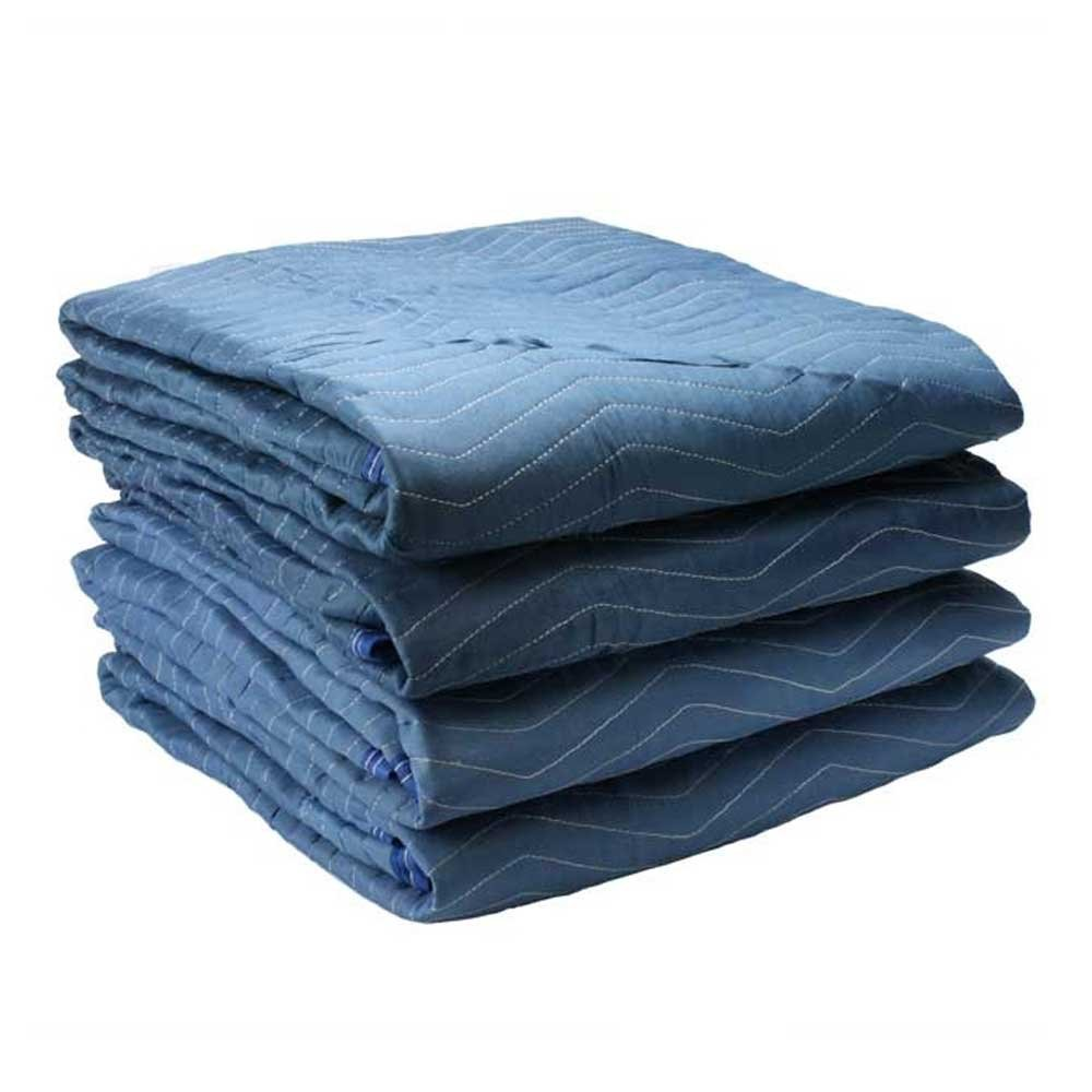 Moving Blanket (4-pack) 72'' x 80'' US Cargo Control - Pro Mover (6.8 lbs/each, Blue/Light Blue)