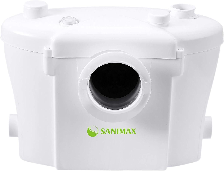Sanimax Sani400 Hebeanlage Haushaltspumpe Fäkalien Abwasserpumpe für WC - Kleinhebeanlage Test
