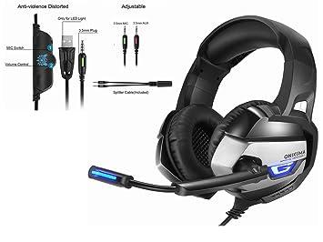 STRIR Auriculares Gaming Premium Stereo con Microfono para PS4 PC Xbox one, Cascos Gaming con