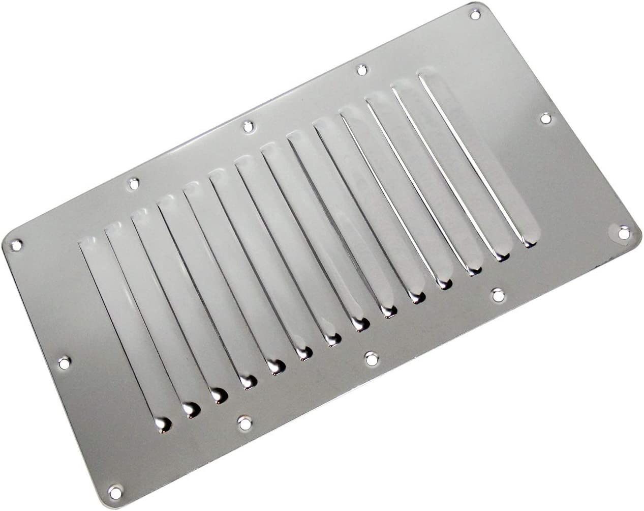 2 PIECES OF STAINLESS STEEL SPORT 6 LOUVERED BOAT//MARINE ENGINE VENT