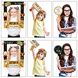 Welcome Photo Booth Picture Frame for Party Supplies School Photo Booth Props First Day of School Photo Frame Printed Double-Sided