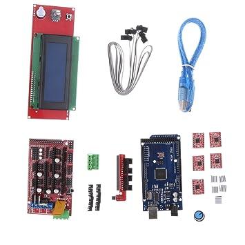 Shiwaki Mega2560 Board + RAMPS 1.4 + 5X A4988 Driver + 2004LCD ...