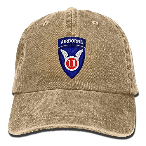 BETARIAN Army 11th Airborne Division Embroidery Low Profile Plain Baseball Hat Dad Trucker Hat