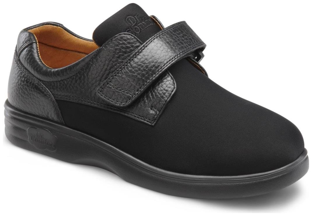 Dr. Comfort Annie-X Women's Therapeutic Diabetic Double Depth Shoe: Black 6 X-Wide (XW/4E) Velcro