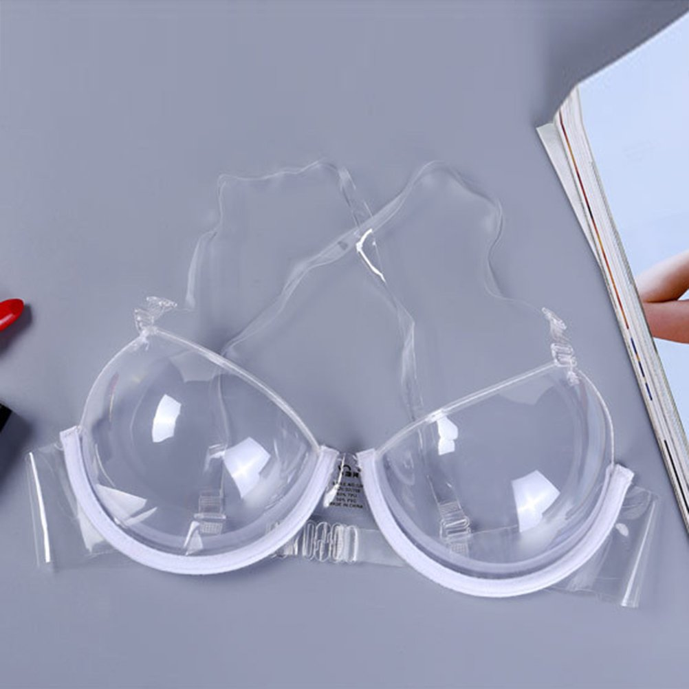 Amazon.com: LUOEM Bra Invisible Transparent Ultra-fine Shoulder Strap Plastic Bra Disposable Bra Size 42: Clothing